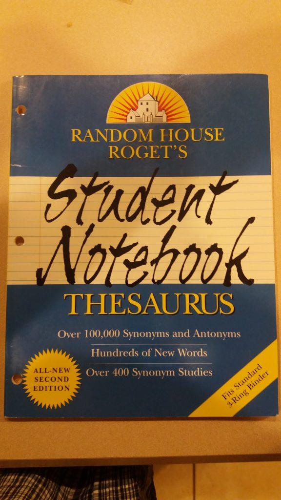Random House Roget S Student Notebook Thesaurus Homeschoolers Helping Homeschoolers
